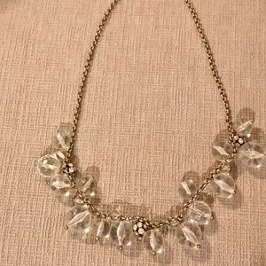 J. Crew Clear Beaded Necklace